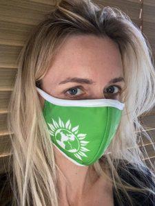 mask being worn